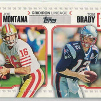 Tom Brady 2010 Topps Gridiron Lineage Series Mint Card #GL-MOB