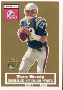 Tom Brady 2005 Topps Turn Back The Clock Series Mint Card #6