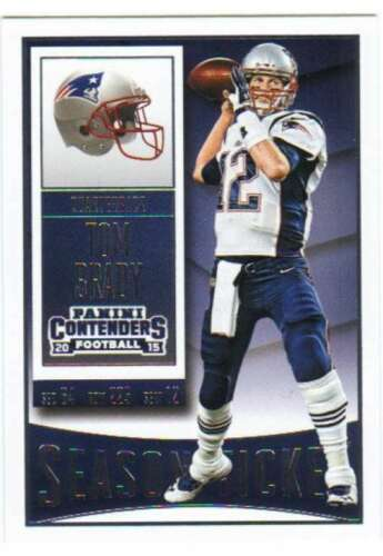 Tom Brady 2015 Panini Contenders Season Ticket Series Mint Card #79
