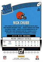 Nick Chubb 2018 Donruss RATED ROOKIE Mint Card #308