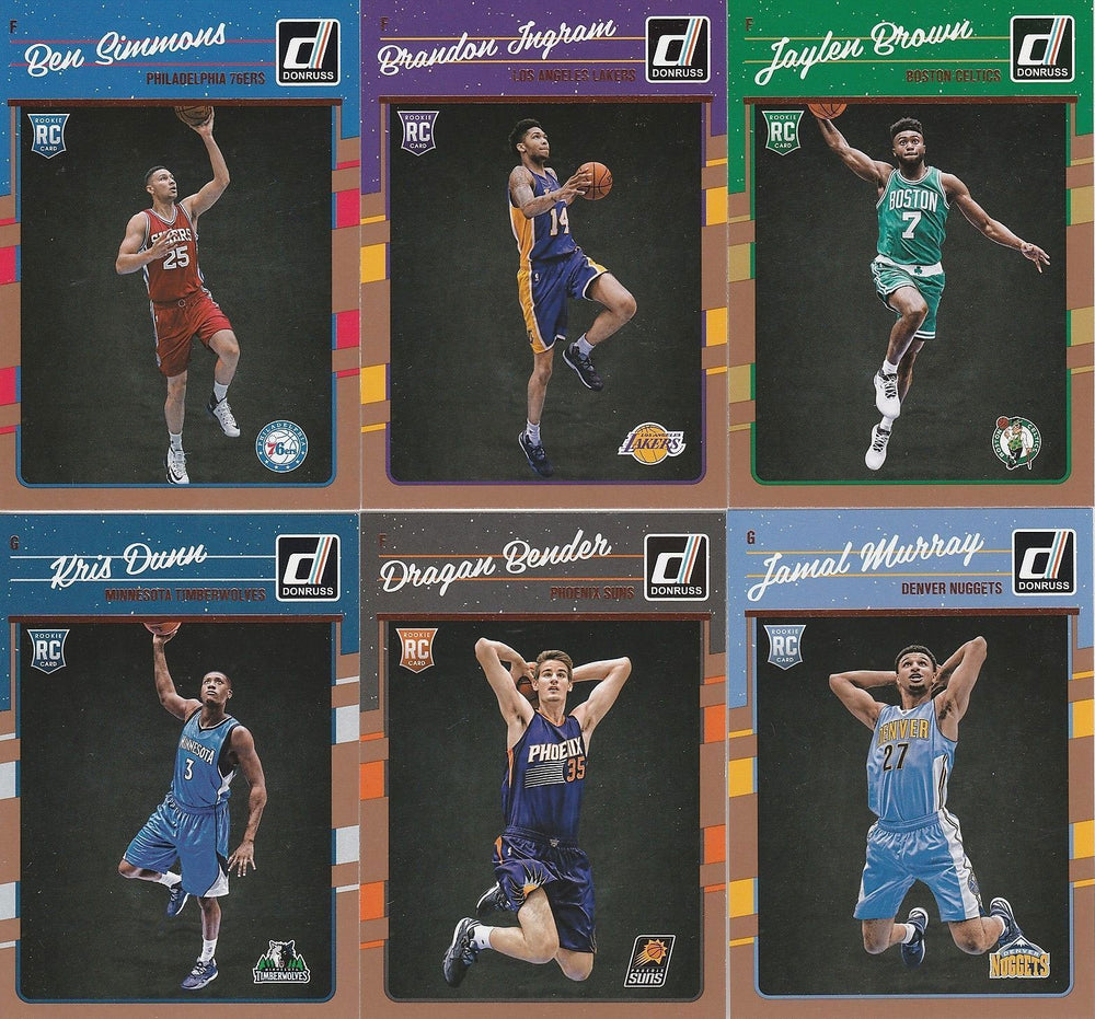 2016 2017 Donruss Basketball Series Complete Mint 200 Card Set with Stars Plus Jamal Murray Rookie and More