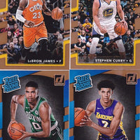 2017 2018 Donruss Basketball Series Complete Mint 200 Card Set with Stars Plus Jason Tatum and Donovan Mitchell Rookies Plus