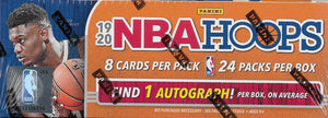 2019 2020 Hoops NBA Basketball Retail Box 24 Packs with Autograph