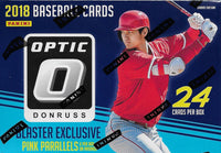 2018 Donruss OPTIC Baseball Blaster Box of Packs 6 EXCLUSIVE Pink Parallel Cards