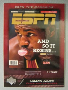 LeBron James 2005 2006 Upper Deck ESPN Magazine Covers Basketball Series Mint Card #MAG-LJ2