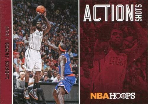 LeBron James 2013 2014 Hoops Action Shots Basketball Series Mint Card #13