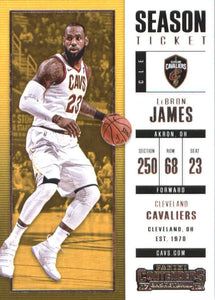 LeBron James 2017 2018 Panini Contenders Season Ticket Basketball Series Mint Card #20