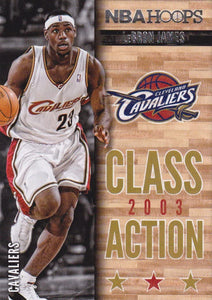 LeBron James 2013 2014 Hoops Class Action Basketball Series Mint Card #10