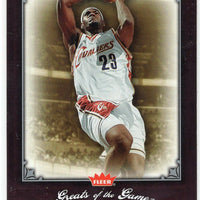 LeBron James 2005 2006 Fleer Greats Of The Game Basketball Series Mint Card #53