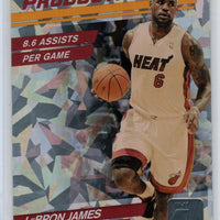 LeBron James 2010 2011 Donruss Production Line Cracked Ice Basketball Series Mint Card #46