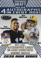 2020 Sage Hit Premier HIGH SERIES NFL Draft Picks Blaster Box with 4 GUARANTEED AUTOGRAPHS