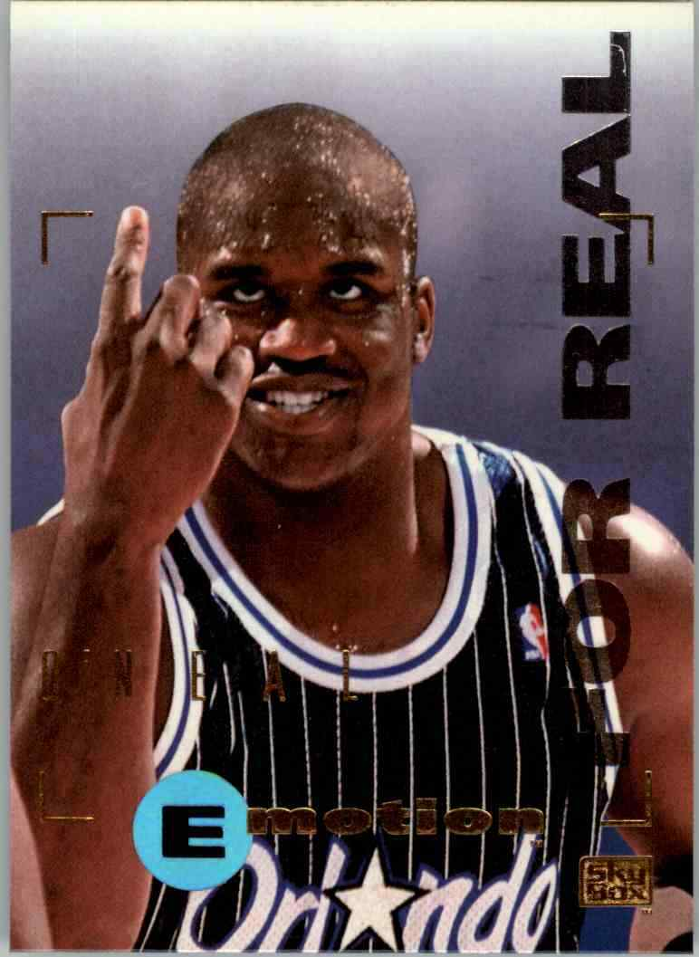 Shaquille O'Neal 1995 1996 Skybox Emotion For Real Series Mint Card #70