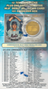 2016 Topps Baseball Series 1 Blaster Box Exclusive MLB Debut Medallion