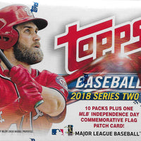 2018 Topps Baseball Series 2 Blaster Box Exclusive PATCH   Hard to Find!!