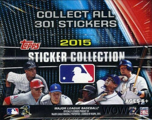2015 Topps MLB Baseball Sticker Collection Factory Sealed Box