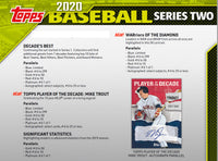 2020 Topps Baseball Series Two 24 Pack Retail Box