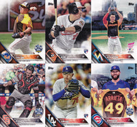 2016 Topps Traded Baseball Updates and Highlights Series Set