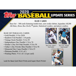 2020 Topps Baseball Update Series Factory Sealed Blaster Box with an EXCLUSIVE Coin