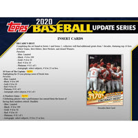 2020 Topps Baseball UPDATE Series 24 Pack Retail Box