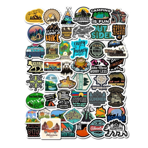 Lot de Stickers Ordinateur Aventure