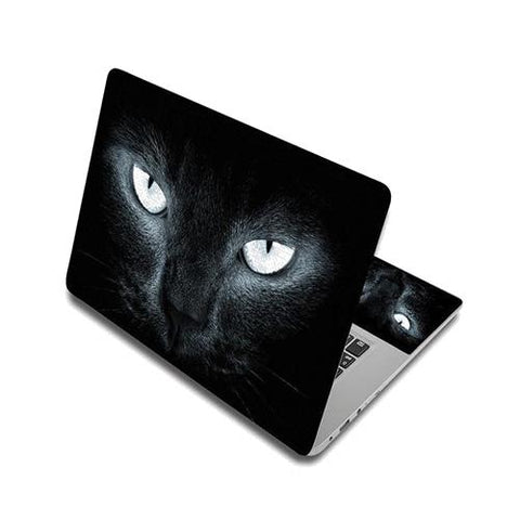 Stickers Ordinateur Portable Chat Noir