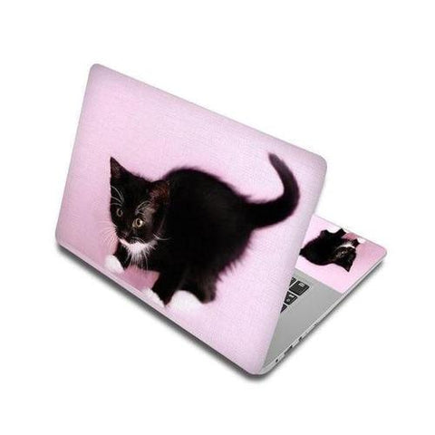 Stickers Ordinateur Portable Chaton Noir