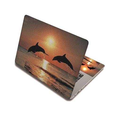 Stickers Ordinateur Portable Dauphins