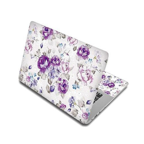 Stickers Ordinateur Portable Roses Violettes