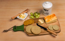 Load image into Gallery viewer, Delicious munchy oatcakes with a subtle hint of chilli.  Perfect teamed with everythingCHILLI relishes and chutneys, paired with your favourite cheese.  Oatcakes on a cheeseboard with butter, cheese and grapes