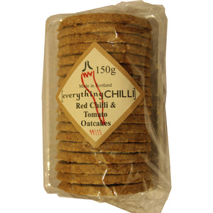 Delicious munchy oatcakes with a subtle hint of chilli.  Perfect teamed with everythingCHILLI relishes and chutneys, paired with your favourite cheese.