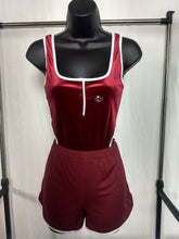 Load image into Gallery viewer, Rotm Burgundy & White Women's Shorts