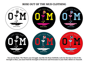 Rose Out Of The Mud Fundraiser Stickers