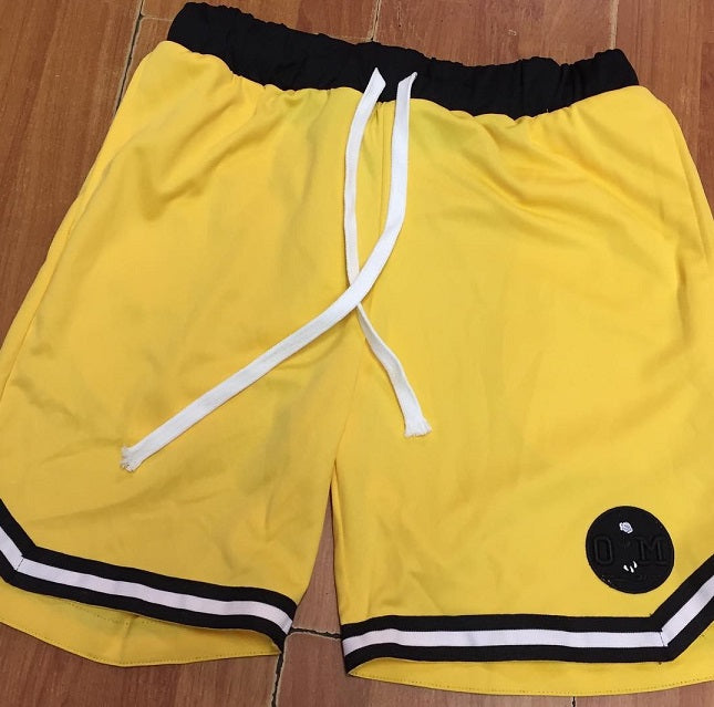Rotm Yellow & Black Basketball Shorts