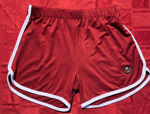 Rotm Burgundy & White Women's Shorts