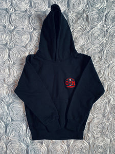 Rotm Black Hoodie With Medium Black and Red Logo