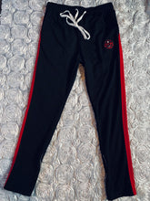 Load image into Gallery viewer, Rotm Black, Red, & White track suit Pants