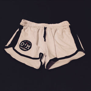 Rotm White & Black Girl Shorts