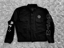 Load image into Gallery viewer, Rotm Black & White Drip Denim jacket.