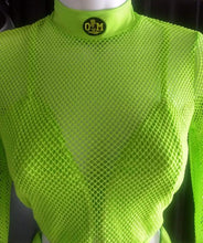 Load image into Gallery viewer, Rotm Neon Green Mesh Two-Piece Bathing Suit