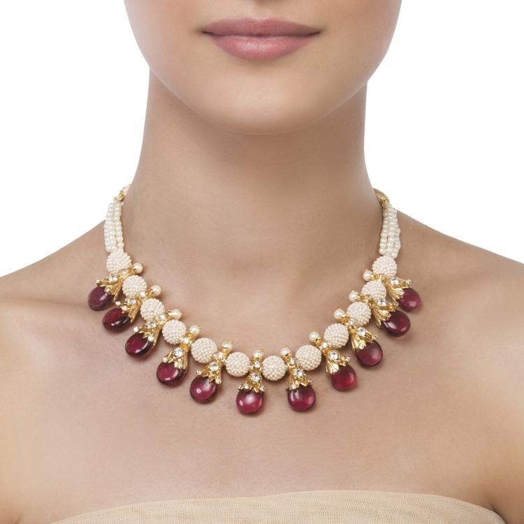 Pearl Bead Tourmaline Necklace