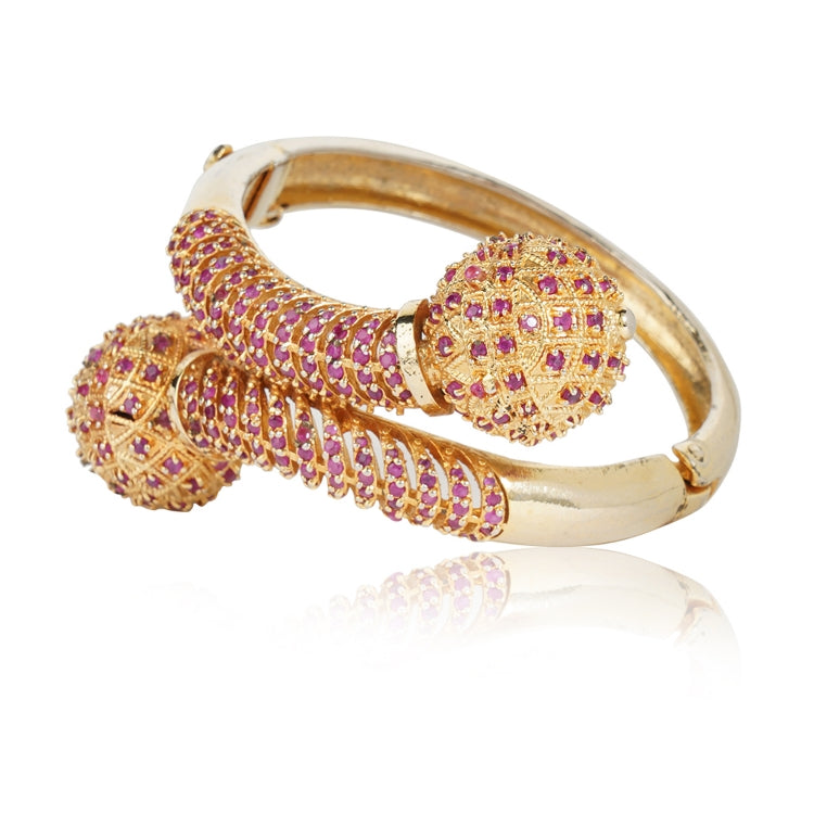 GOLD PLATED HASTHAM RED BANGLE