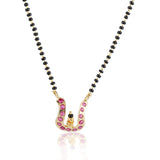 Gold Plated Mangalya Ruby Mangalsutra Set
