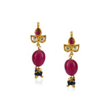 Silver Plated Celestial Green Ruby Choker Set