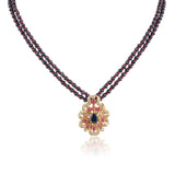 Gold Plated Celestial Ruby Necklace Set