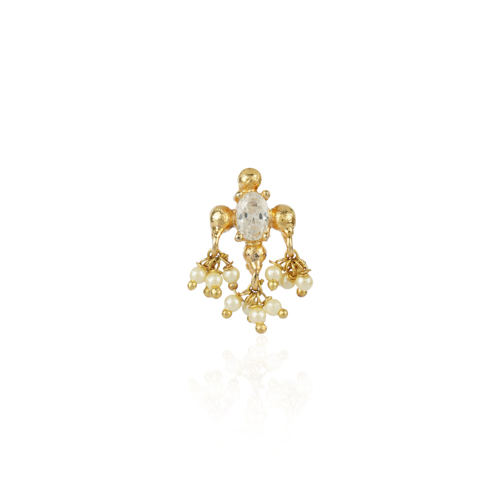Gold Plated Zircon Nosepin