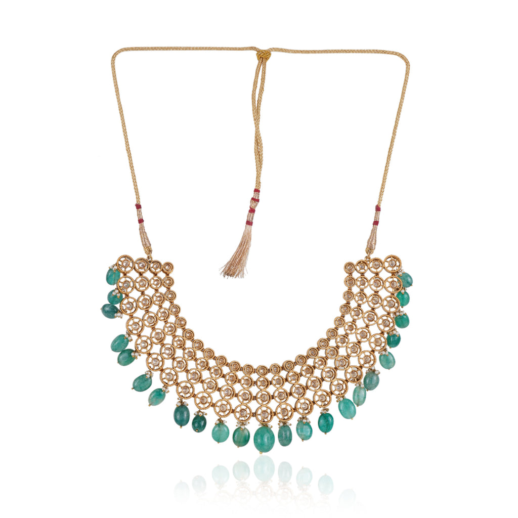 Gold Plated Valentine Zircon Necklace Set