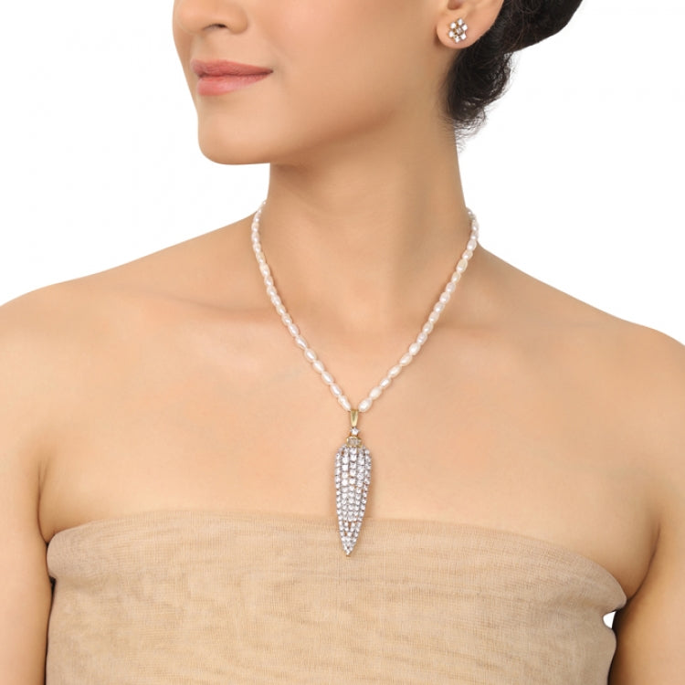 GOLD PLATED PURNA ZIRCON NECKLACE SET