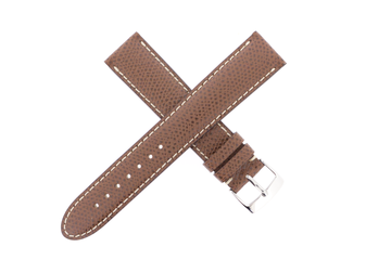 Copy of 19mm Mntblnc Epsom Leather Brown W/ Contrast Stitch - Short