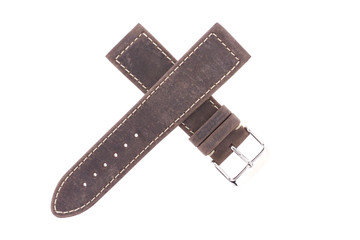22mm Jean R Dry Dock Leather Brown W/ Contrast Stitch