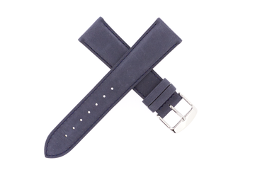 21mm Leather Nubuck Navy